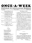 Once-A-Week, 1926-11-29 by Ithaca Conservatory and Affiliated Schools