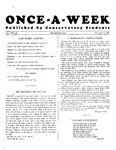 Once-A-Week, 1927-01-17 by Ithaca Conservatory and Affiliated Schools