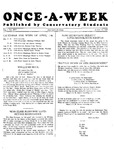 Once-A-Week, 1927-04-11 by Ithaca Conservatory and Affiliated Schools