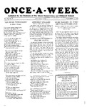 Once-A-Week, 1928-10-11