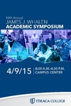 2015 Whalen Symposium Program by Ithaca College