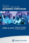 2016 Whalen Symposium Program by Ithaca College